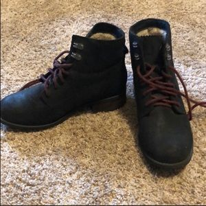 UGG Black Denhali Leather Boot